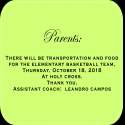 Memo OCE Basketball Team